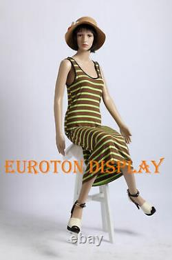2 Wigs Free Sitting Modern Chic SF-06 Female Mannequin New