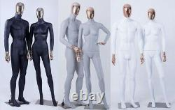 Abstract Female Display Dummy Mann Dressmaker's Electroplating Head Hands
