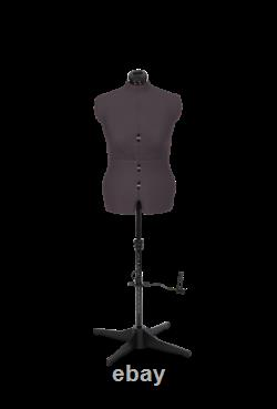Adjustable Tailors Dummy Dressmakers Mannequin Female Grey Sizes 14 to 22