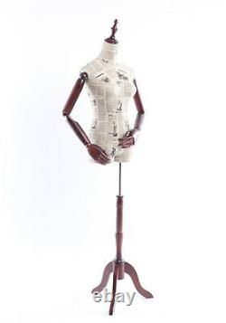 B-6-O Female Tailor's Dummy Wood Poor Hand Adjustable Substance-Related Torso