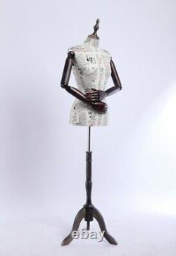 B12-G Female Tailor's Dummy Wood Poor Hand Adjustable Substance-Related Torso
