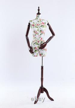 B4O Female Tailor's Dummy Wood Poor Hand Adjustable Substance-Related Torso