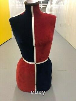 Classic Tailor's Female Dummy Bust upholstered in the British colours