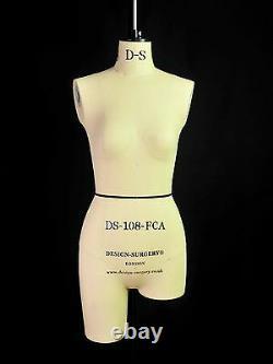 Design-Surgery Mannequin Lauren DS-108-FCA Tailors Dummy, Draping Stand