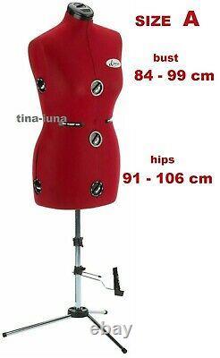 Diana Adjustable Tailors Dress Makers Mannequin Dummy Dress Form (UK 10-16)