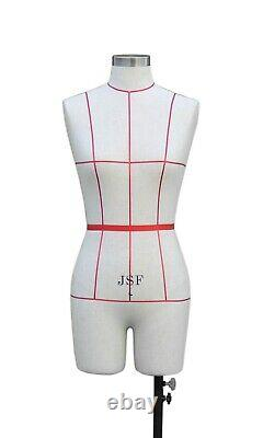 Female Professional Sewing Form Dummy Dressmaker Display Tailors 8 10 12