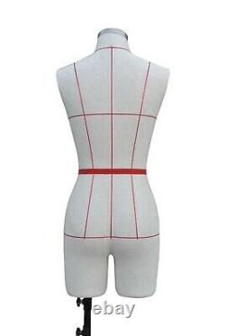 Female Sewing Mannequin Dummy Tailors Dress form Size 8 10 & 12