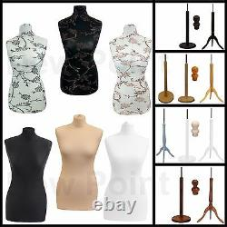 Female Tailor Tailors Dummy Dressmakers Fashion Student Mannequin Display Bust