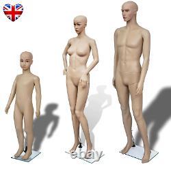 Full Body Dummy Mannequin Tailor Shop Dressmaker Cloth Display Male Female Child