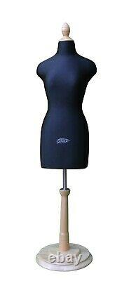 Half Scale Mini Mannequin Dress Tailors Dummy Beige & Black