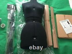 Lady Valet Adjustoform Tailor Dummy size Small, with accessories Black Fabric