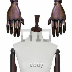 NEW High Quality Female Tailors Dummy With Articulated Wooden Arms & Metal Base