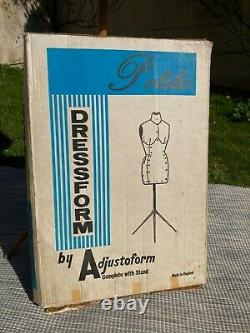 Portable Vintage Adjustable Dress Makers Female Dummy Tailors Torso With Stand