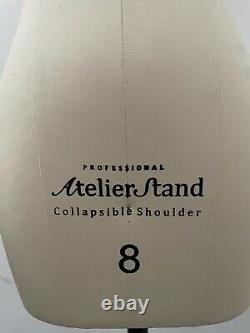Professional Atilier Stand Female Tailors Dummy With Collapsible Shoulder Sz8