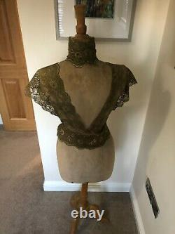 Stockman Paris Antique female Tailor dummy on adjustable beech stand numbered