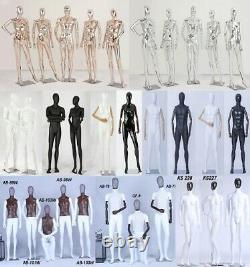 Tailor's Dummy Fabric Covered Torso Wood Arm Finger Movable Holzstand Three-Leg