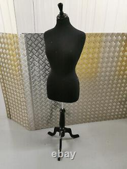 Tailors Dummy Female Dressmakers Bust Retail Display Fashion Mannequin Black