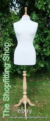 3 X 10/12 Femme Tailors Dummy Cream Dressmakers Mode Mannequin Affichage Bust