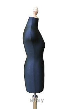 À Mi-échelle Mini Mannequin Robe De Couture Formes Tailors Dummy Noir Et Beige
