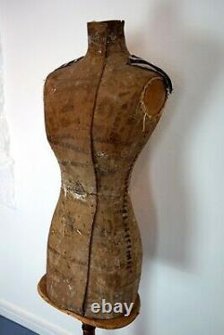 Antique Victorian Français Dressmakers Tailors Mannequin Mannequin Mannequin Par Stockman