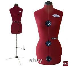 Diana 8-part Réglable Tailors Dress Makers Mannequin Mannequin Mannequin Robe Factice Forme