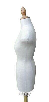 Femelle Demi-échelle Mini Mannequin Dummy Tailors Robe De Couture Formes Noir / Beige