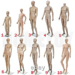 Full Body Mannequin Stand Tailor Dressmaker Dummy Shop Window Display Many Size