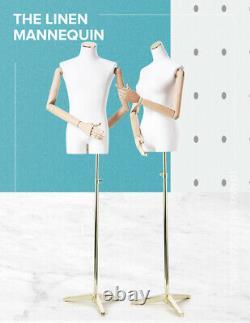 Nouveau Mannequin Factice Femelle De Tailleurs Masculins Avec La Base En Métal Articulée D'armes En Bois