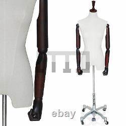 Nouveau Mannequin Féminin De Tailleurs De Haute Qualité Avec Les Bras En Bois Articulés Et La Base En Métal