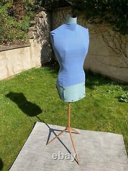Portable Vintage Tailleur De Robe Réglable Femelle Dummy Tailors Torso Avec Support