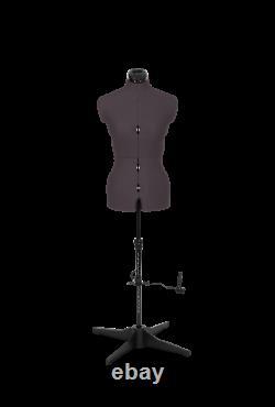 Tailors Dummy Adaptable Torso Dressmaker Femme Mannequin Tailles 6 À 22 Gris