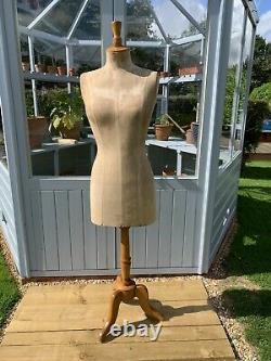 Vieilles Dames Femme Stockman Paris Mannequin Shop Tailors Dummy Stand En Bois
